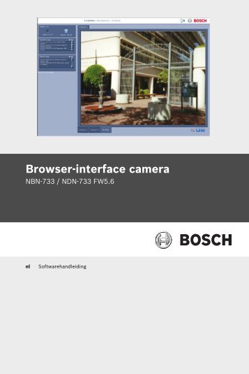 Browser-interface camera - Bosch Security Systems