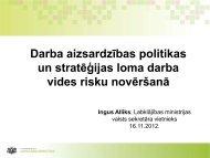 Darba aizsardzības politikas un stratēģijas loma darba vides risku ...