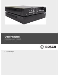 Quadravision - Bosch Security Systems