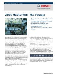 VIDOS Monitor Wall - Mur d'images - Bosch Security Systems