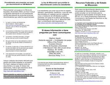 Statement of Alleged Discrimination Brochure-Spanish_June 2012