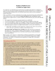 Family & Medical Leave A Guide for Supervisors