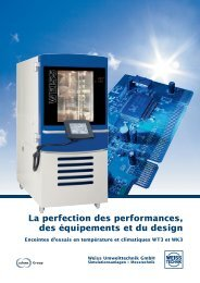 Gamme WT³ - Weiss Technik France