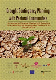 Drought Contingency Planning with Pastoral Communities - celep