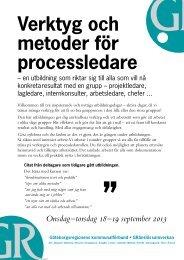 Verktyg och metoder för processledare - GR