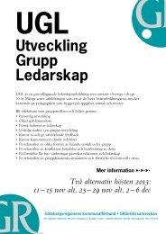 Utveckling Grupp Ledarskap UGL