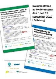 1 Dokumentation av konferenserna den 6 och 19 september ... - GR