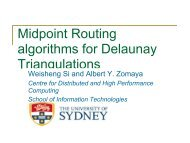 Midpoint Routing algorithms for Delaunay Triangulations - IPDPS