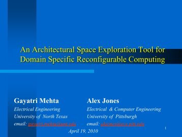 An Architectural Space Exploration Tool For Domain Specific - IPDPS