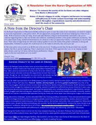 KOM Newsletter, Winter 2010 - Karen Organization of Minnesota