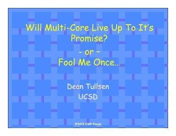 Dean Tullsen, UCSD - IPDPS