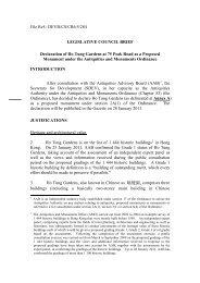 File Ref.: DEVB/CS/CR6/5/284 LEGISLATIVE COUNCIL BRIEF ...
