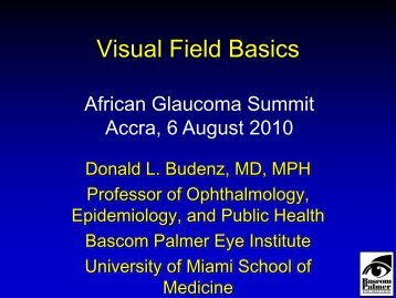 Visual Field Basics - World Glaucoma Association
