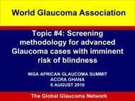 Introductory comments - World Glaucoma Association