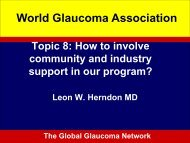 Panel Discussion - World Glaucoma Association