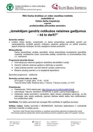 PROGRAMMA GNNG Tukums 11062013 - Eiropas darba drošības ...