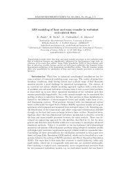 LES modeling of heat and mass transfer in turbulent recirculated ...
