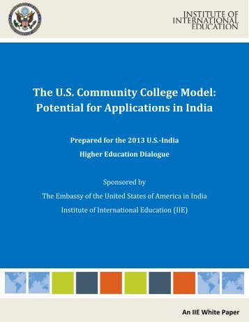 The US Community College Model - Institute of International Education