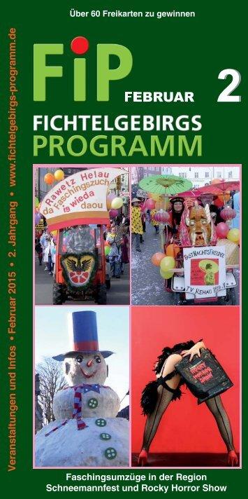 Fichtelgebirgs-Programm - Februar 2015