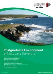 Postgraduate Environment at Macquarie University - International