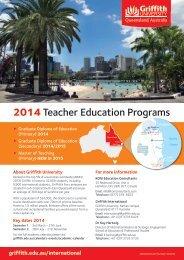 Griffith Teacher Education Programs 2014 flyer - KOM Consultants