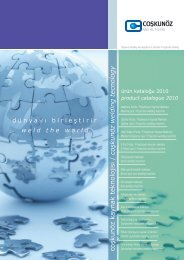 product catalogue 2010 - Coşkunöz Machinery Group