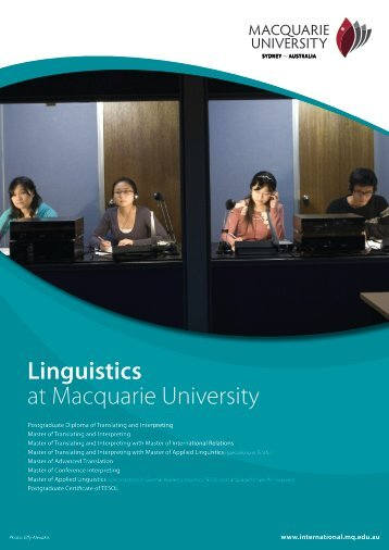 Linguistics at Macquarie University - KOM Consultants