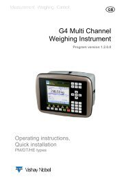 G4 Multi Channel Weighing Instrument. PM/DT/HE Operating ...