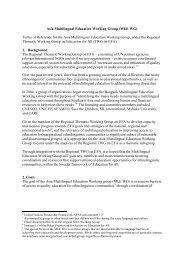 Terms of Reference - MTB-MLE Network