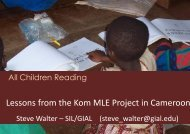 Lessons from the Kom MLE Project in Cameroon - Global ...