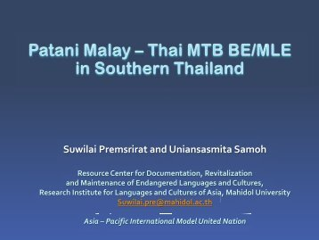 Patani Malay Presentation - Part 1.pdf - MTB-MLE Network