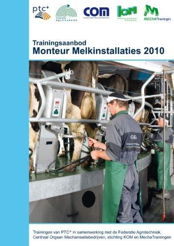 Trainingsaanbod monteur melkinstallaties 2012/2013 - Stichting KOM