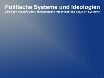 Politische Systeme und Ideologien