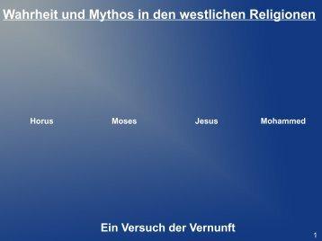 Wahrheit und Mythos in den westlichen Religionen