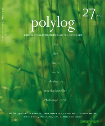 Harald Seubert - polylog. Zeitschrift für interkulturelles Philosophieren