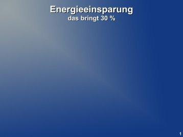 Energieeinsparung