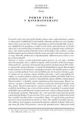 Ivan Klimeš: Pohyb filmu v kinematografu - Iluminace
