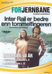 INTERRAIL 40 ÅR - For Jernbane