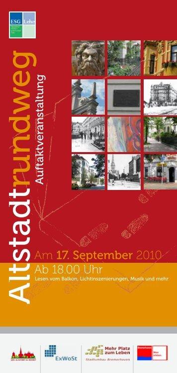 Flyer zur Veranstaltung - ESG-Lehe