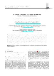 A complete gradient clustering algorithm formed with kernel estimators