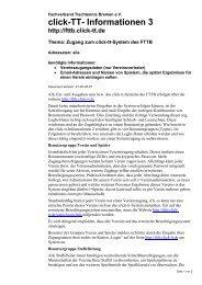 click-TT- Informationen 3 - Fachverband Tischtennis Bremen FTTB