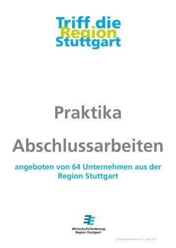 Praktika Abschlussarbeiten - Fachkräfte Region Stuttgart