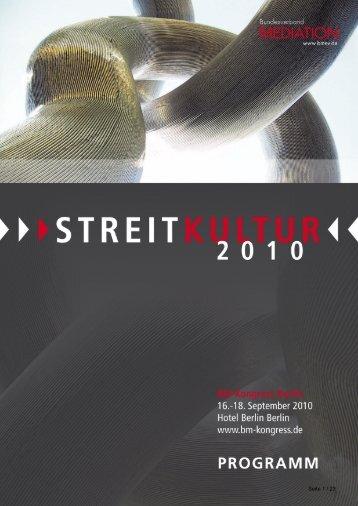 Programm als PDF Kurzversion - BM Kongress 2010
