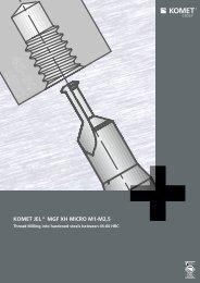 Product information JEL® MGF XH MICRO M1-M2.5 - Komet Group