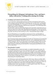 Überprüfung der Belegung Ludwigsburger Turn- und Sport- hallen ...