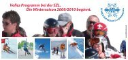 Das Winterprogramm 2009/10 der Schneeläuferzunft Ludwigsburg ...