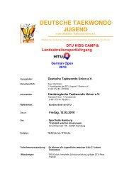 DEUTSCHE TAEKWONDO JUGEND - tghamburg-nord.de