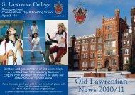 Old Lawrentian News 2010/11