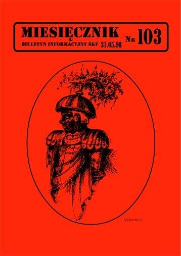 Miesięcznik nr. 103 - Śląski Klub Fantastyki