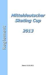 Reglement 2013 - Mitteldeutscher Skating Cup